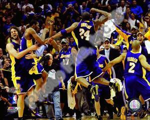 NBA The Los Angeles Lakers celebrate Game Five of the 2009 NBA Finals