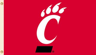 NCAA Cincinnati Bearcats Flag with Grommets