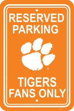 NCAA Clemson Tigers Parking Sign