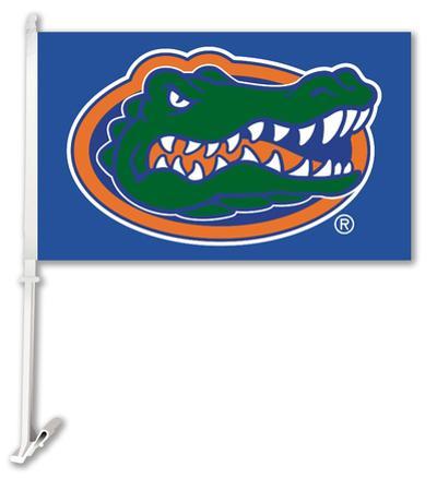 NCAA Florida Gators Car Flag With Wall Brackett
