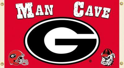 NCAA Georgia Bulldogs Man Cave Flag with Grommets