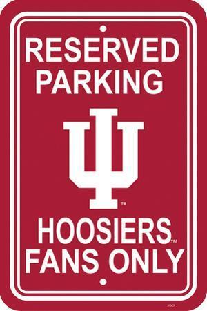 NCAA Indiana Hoosiers Parking Sign