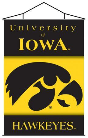 NCAA Iowa Hawkeyes Indoor Banner Scroll