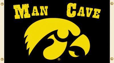 NCAA Iowa Hawkeyes Man Cave Flag with Grommets