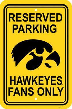 NCAA Iowa Hawkeyes Parking Sign