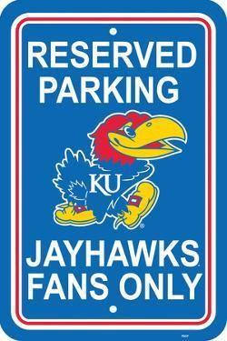 NCAA Kansas Jayhawks Parking Sign