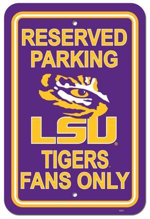 NCAA Louisiana State University (LSU) Parking Sign