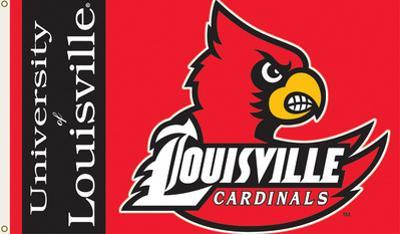 NCAA Louisville Cardinals Flag with Grommets