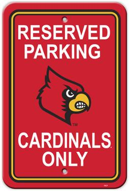 NCAA Louisville Cardinals Parking Sign