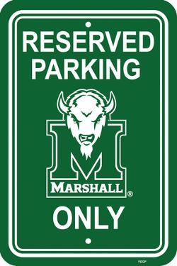 NCAA Marshall Thundering Herd Parking Sign