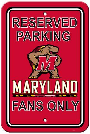 NCAA Maryland Terrapins Parking Sign