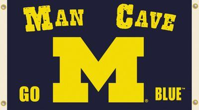 NCAA Michigan Wolverines Man Cave Flag with Grommets