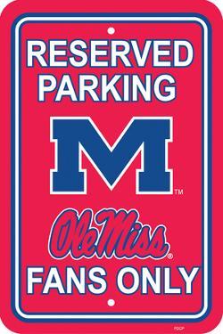 NCAA Mississippi Rebels Parking Sign