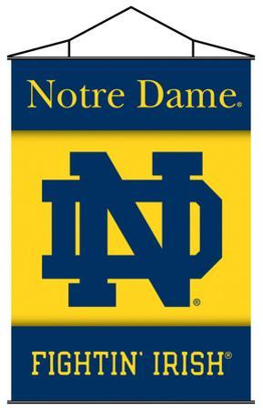 NCAA Notre Dame Indoor Banner Scroll