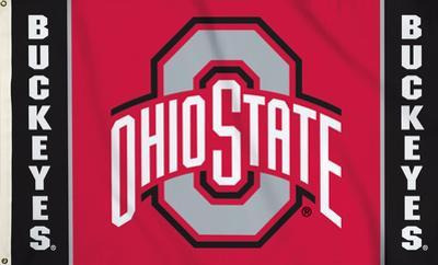 NCAA Ohio State Buckeyes Flag with Grommets
