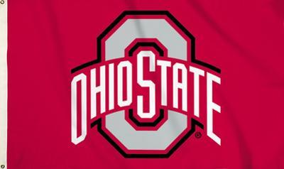 NCAA Ohio State Buckeyes Flag with Grommets