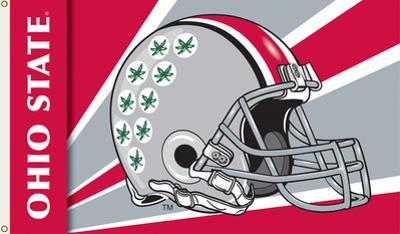 NCAA Ohio State Buckeyes Helmet Flag with Grommets