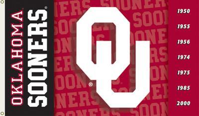 NCAA Oklahoma Sooners 2-Sided Flag with Grommets