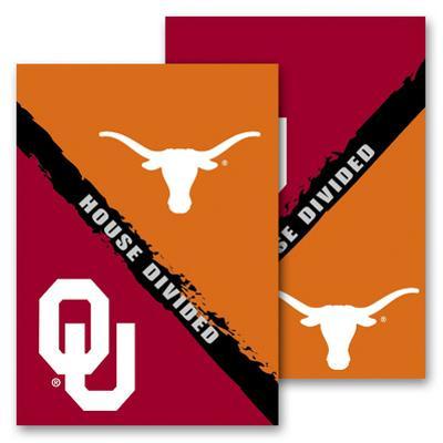 NCAA Oklahoma - Texas 2-Sided House Divided Rivalry Garden Flag