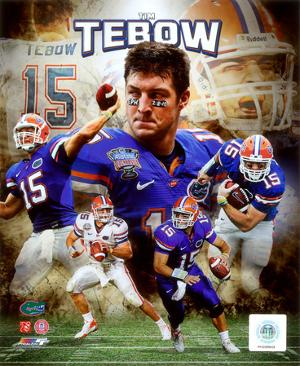 NCAA Tim Tebow University of Florida Gators Portrait Plus