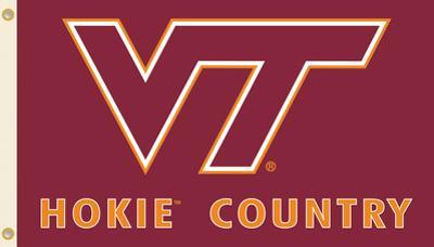 NCAA Virginia Tech Hokies Country Flag with Grommets