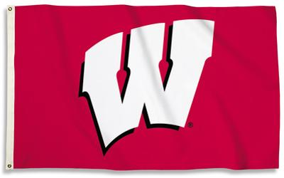 NCAA Wisconsin Badgers Flag with Grommets