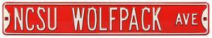 NCSU Wolfpack Ave Steel Sign