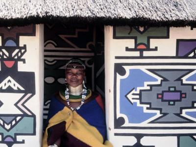 Ndebele Woman Wearing Beads, South Africa