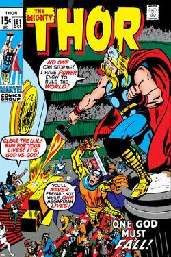 Thor No.181 Cover: Thor and Balder by Neal Adams