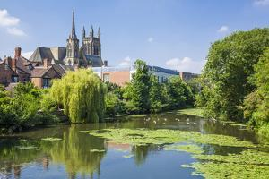 All Saints Church and River Leam, Royal Leamington Spa, Warwickshire, England by Neale Clark