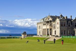Golf Course and Club House by Neale Clark