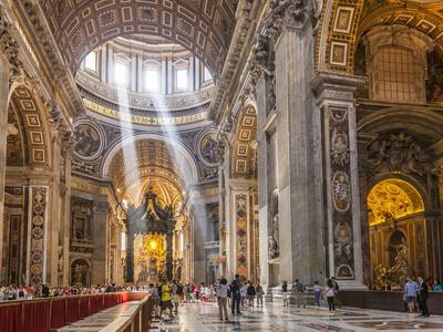 SAINT PETERS BASILICA GLOSSY POSTER PICTURE PHOTO papal vatican city pope 1748