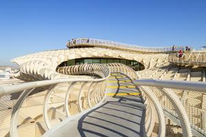 Metropol Parasol walkways, Plaza de la Encarnacion, Spain by Neale Clark