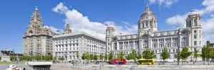 Pierhead Three Graces Buildings, Liverpool Waterfront, UNESCO Site, Liverpool, England, UK by Neale Clark