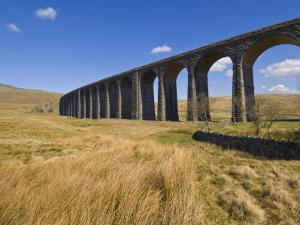 Ribblehead Railway Viaduct on Settle to Carlisle Rail Route, Yorkshire Dales National Park, England by Neale Clark