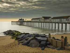 Southwold Pier in the Early Morning, Southwold, Suffolk, England, United Kingdom, Europe by Neale Clark