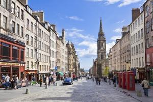 The High Street in Edinburgh Old Town by Neale Clark