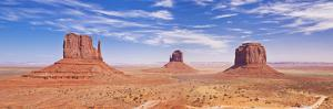West and East Mitten Butte and Merrick Butte, Monument Valley Navajo Tribal Pk, Arizona, USA by Neale Clark