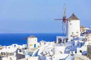 Windmill and Traditional Houses by Neale Clark