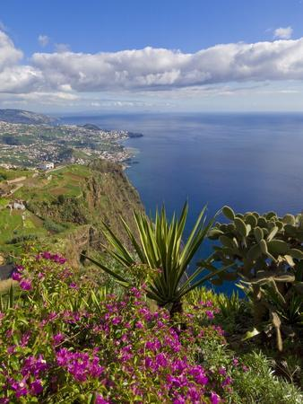 Looking Towards Funchal From Cabo Girao, One of the World's Highest Sea Cliffs, Portugal