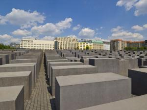 Memorial to the Murdered Jews of Europe, or the Holocaust Memorial, Ebertstrasse, Berlin, Germany by Neale Clarke