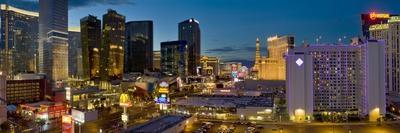 Night Panorama, the Strip, Las Vegas, Nevada, United States of America, North America
