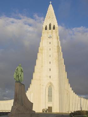 Statue of Leifur Eiriksson (Liefer Eriksson) and Hallgrimskirkja, Reykjavik, Iceland, Polar Regions by Neale Clarke