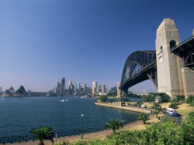 Sydney Harbour Bridge and Skyline, Sydney, New South Wales, Australia