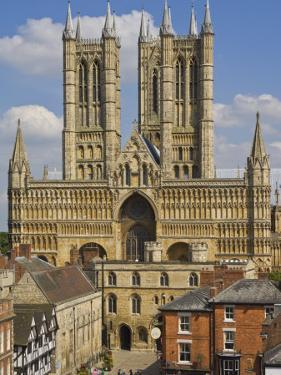 West Front of Lincoln Cathedral and Exchequer Gate, Lincoln, Lincolnshire, England, United Kingdom by Neale Clarke