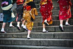 Japanese Ladies in Traditional Dress by Neale Cousland