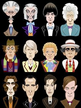 Actors from the BBC television series 'Doctor Who' by Neale Osborne