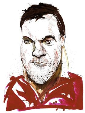 Bryn Terfel - caricature of Welsh bass baritone by Neale Osborne