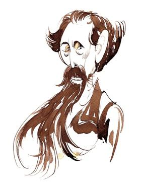Charles Dickens - caricature by Neale Osborne