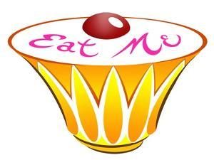 Eat Me cupcake - illustration to Lewis Carroll 's 'Alice's Adventures in Wonderland', November 2005 by Neale Osborne